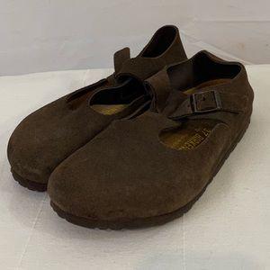 Birkenstock Dark Brown Mule Clog Strap 37 7 240 wm